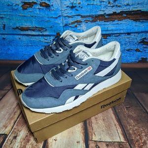 "Reebok Classic Nylon ""Brave Blue"" Running Shoes"